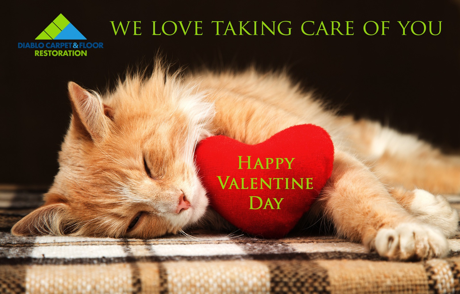 Happy Valentine's Day from Diablo Carpet and Flooring Restoration